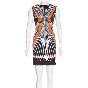 Multicolor Scuba Sleeveless Night Out Dress